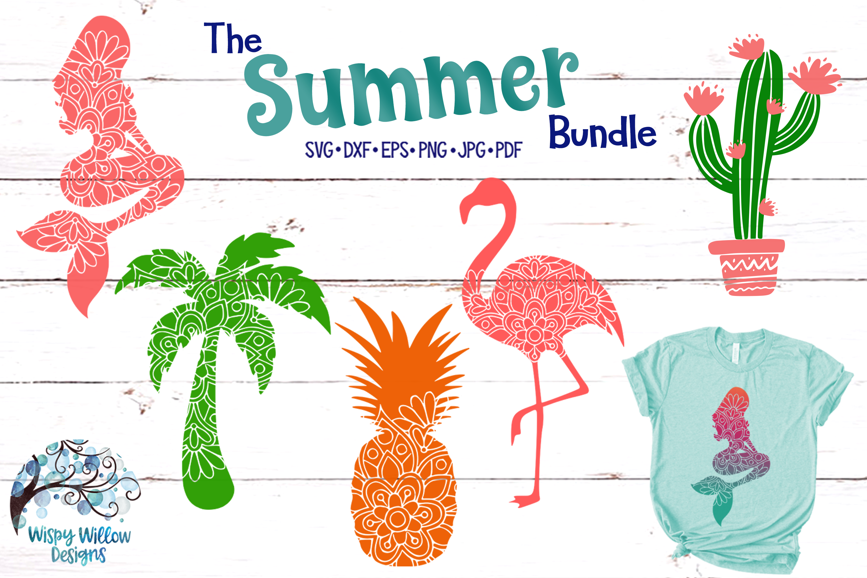 Summer Bundle | Palm Tree | Pineapple | Mermaid Mandala SVG example image 1