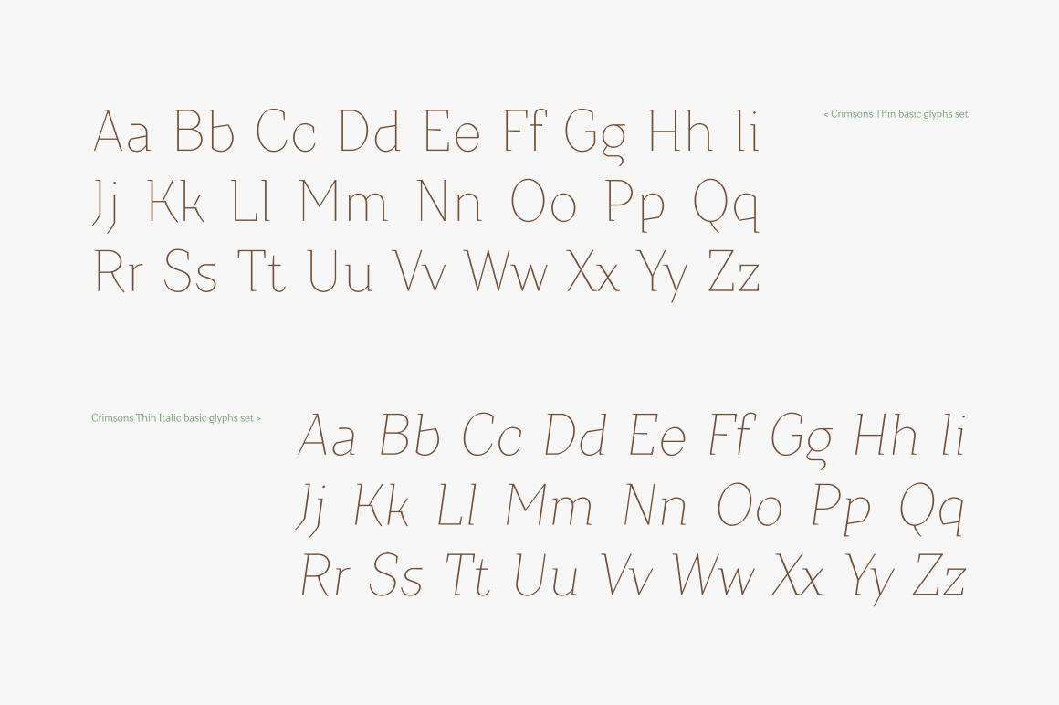 Crimsons — Thin & Thin Italic example image 4