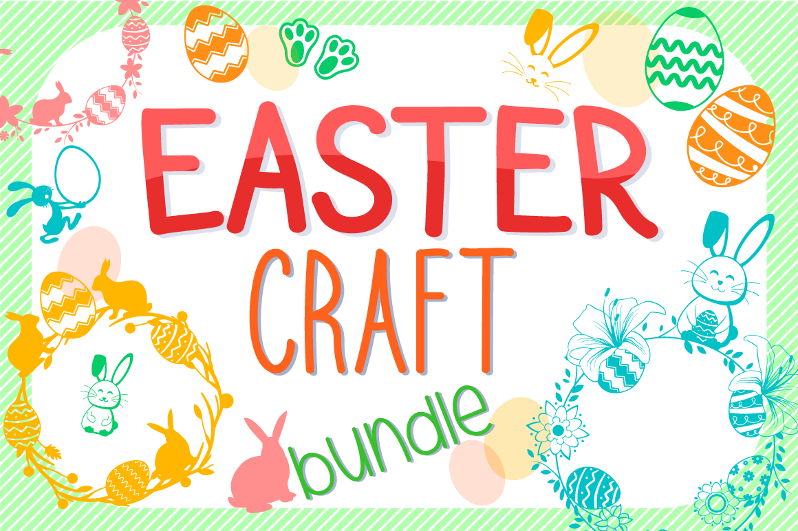 Easter Bundle SVG Cut Files Pack example image 1