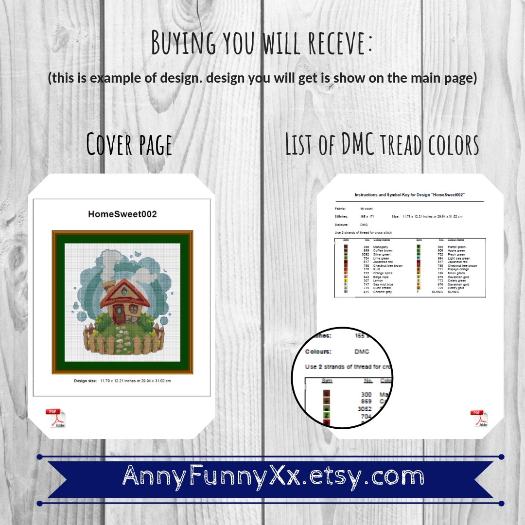 Cross stitch pattern christmas vacation Set example image 7