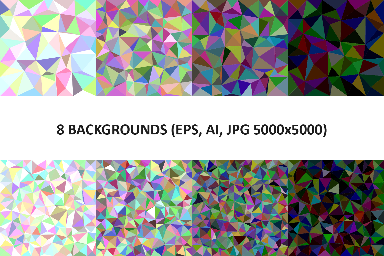 48 Triangle Backgrounds AI, EPS, JPG 5000x5000 example image 5