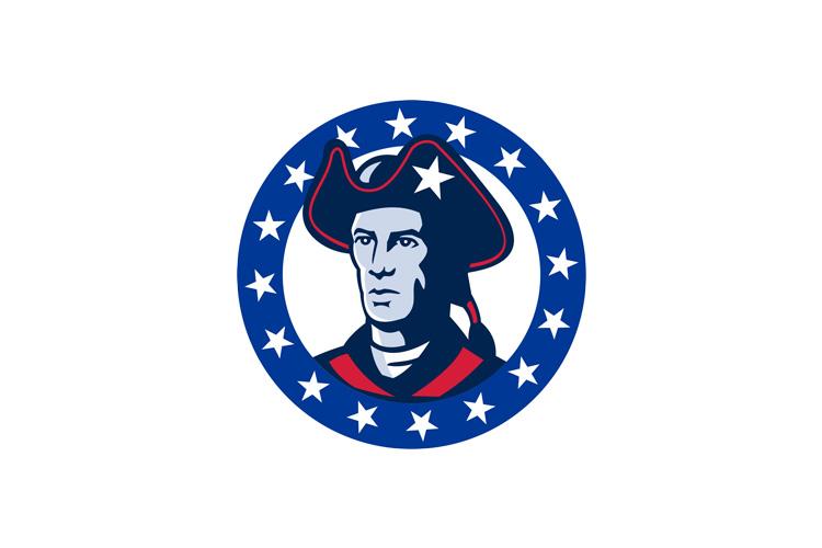 american patriot minuteman stars retro example image 1
