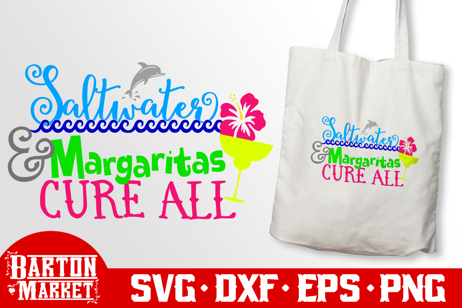 Saltwater & Margaritas Cure All SVG DXF EPS PNG example image 3