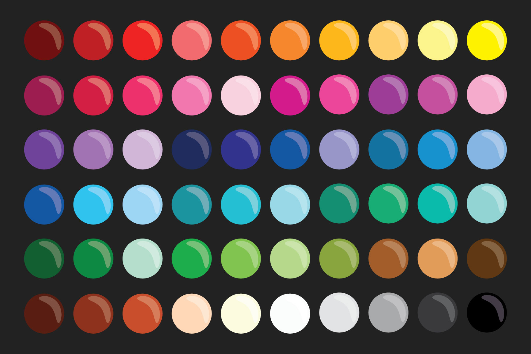 Paint Brush & Palette Graphic Set example image 8