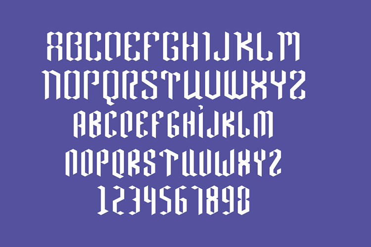 Neo Paralletter Font example image 8