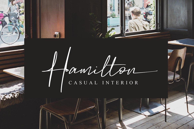 Hamilton - Elegant Signature example image 3