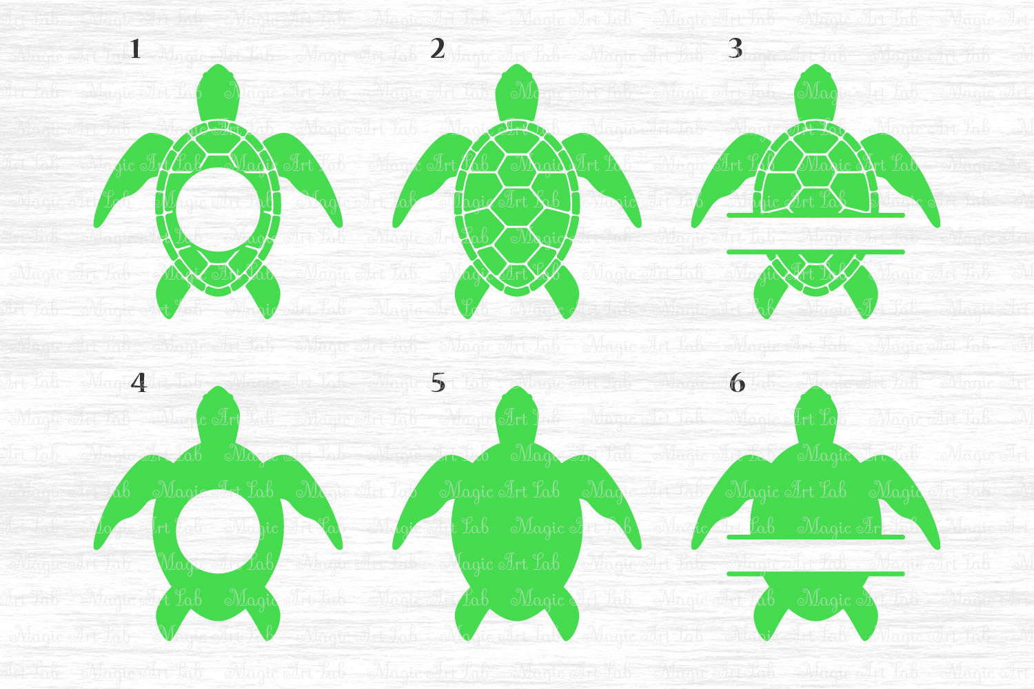 Sea Turtle Svg File Turtle Monogram Svg Turtle Clipart
