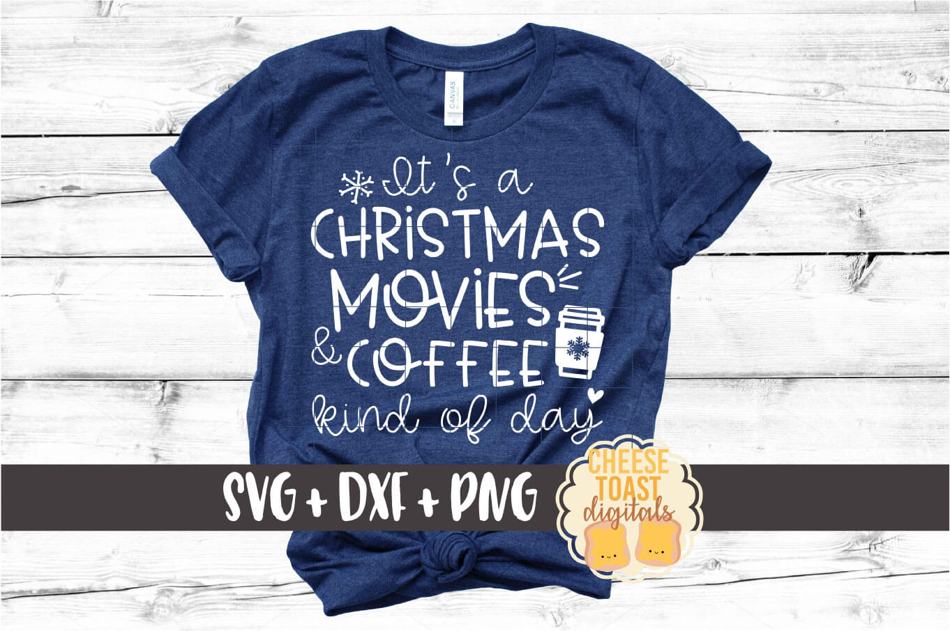 It's A Christmas Movies and Coffee Kind of Day SVG PNG DXF example image 1