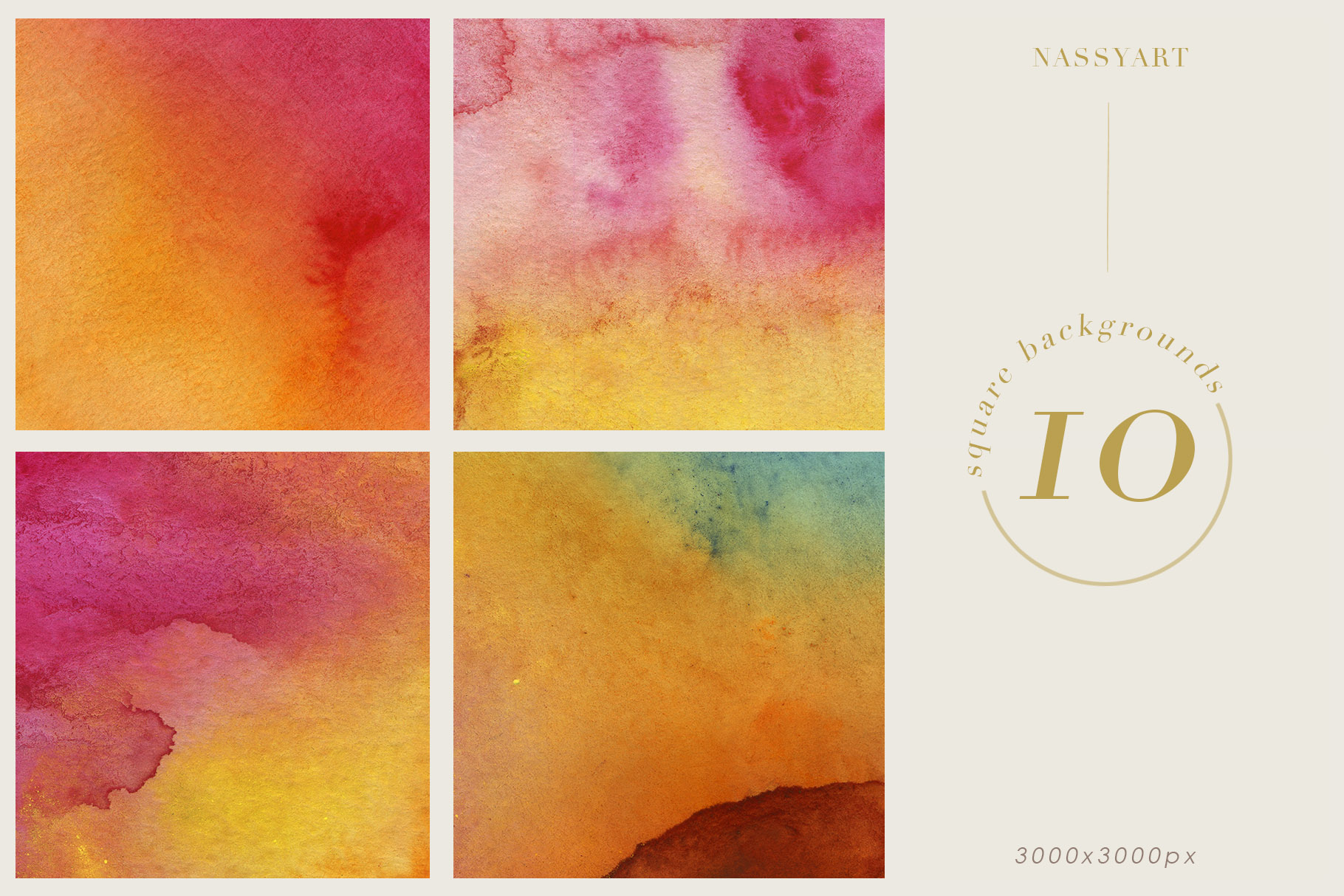 Luminoso Watercolor Textures example image 2