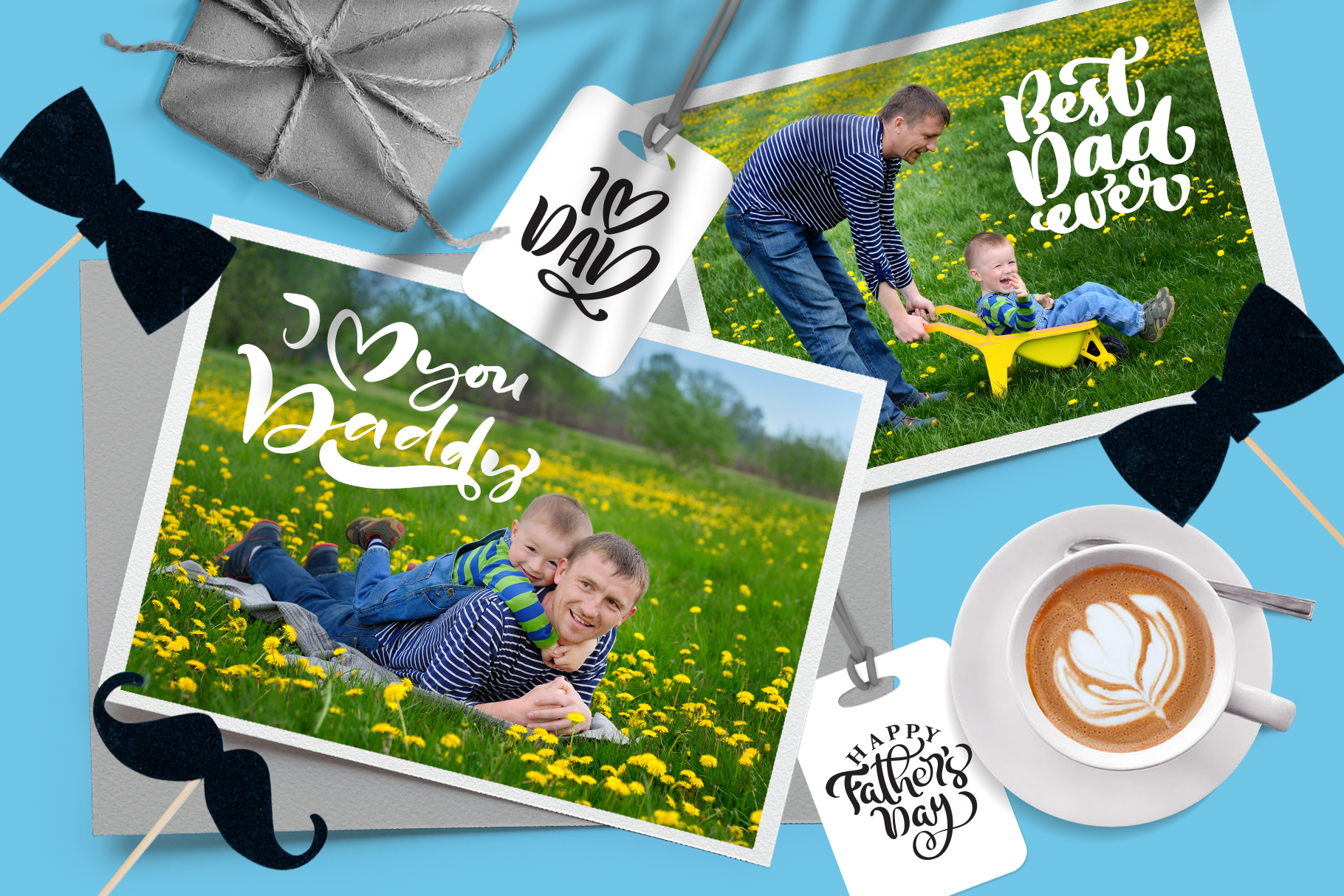 Fathers Day vector SVG greeting quotes example image 6