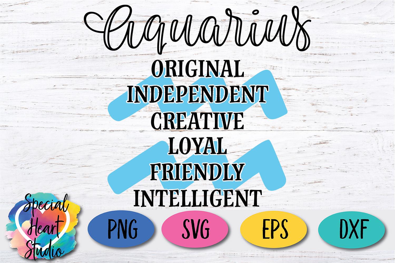 Aquarius Zodiac SVG example image 2