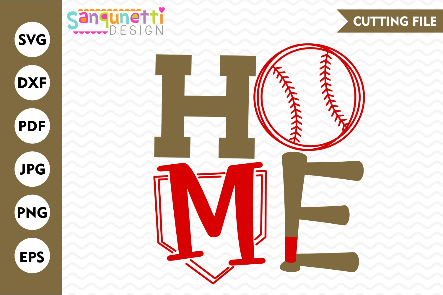Home baseball SVG, sports cutting files example image 1