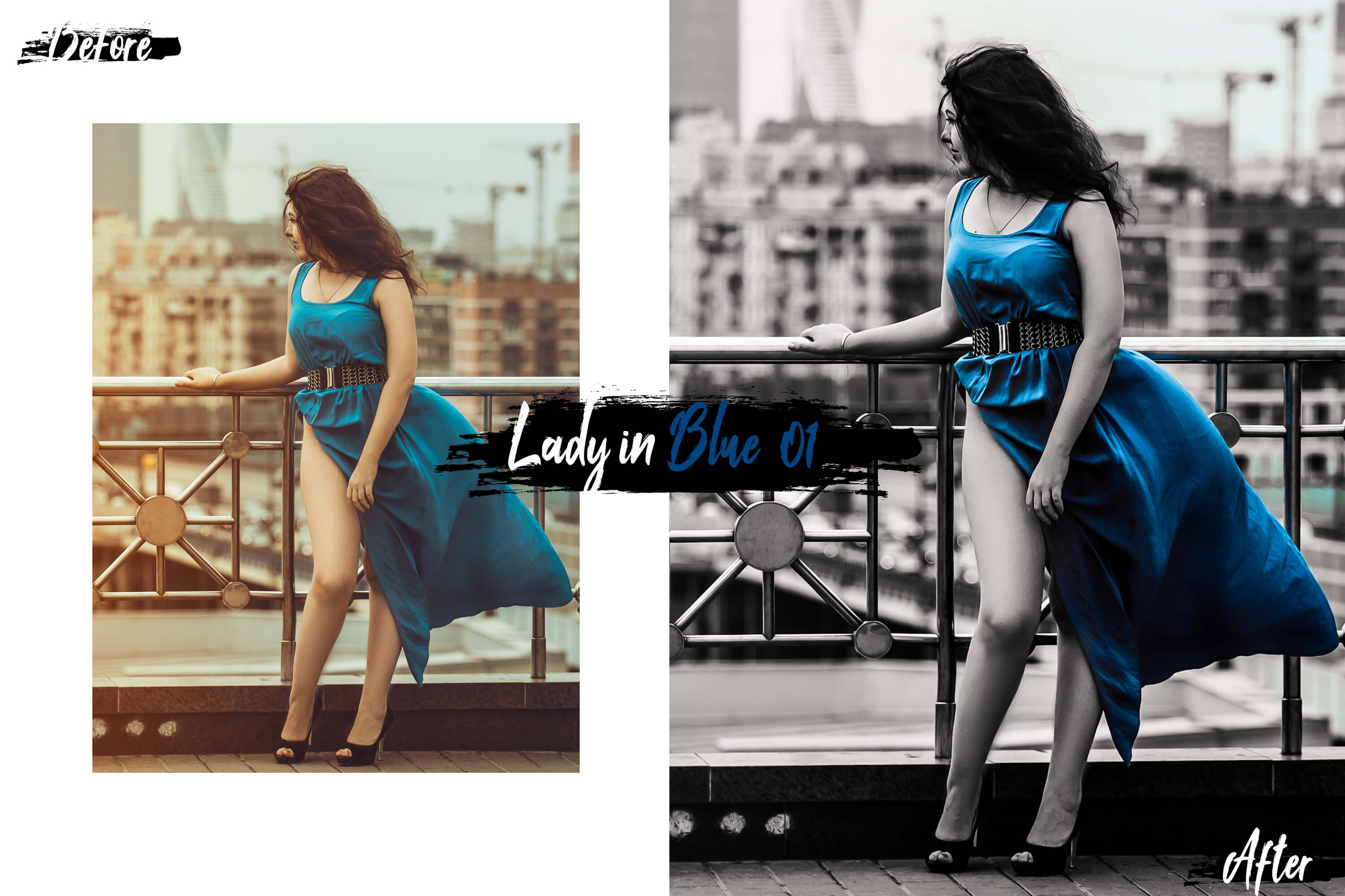 10 Lady In Color Photoshop Actions, ACR and LUT presets example image 10