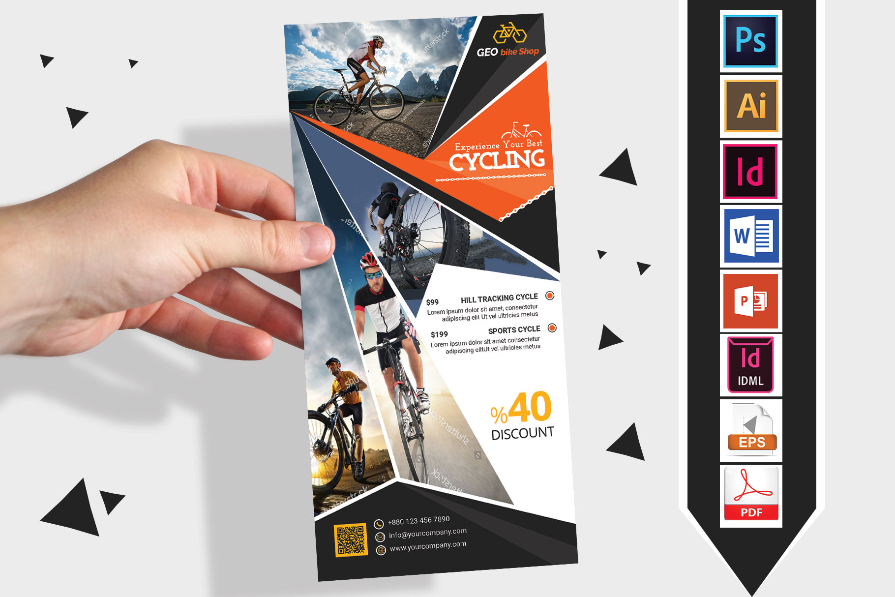 Rack Card | Cycle Shop DL Flyer Vol-03 example image 1