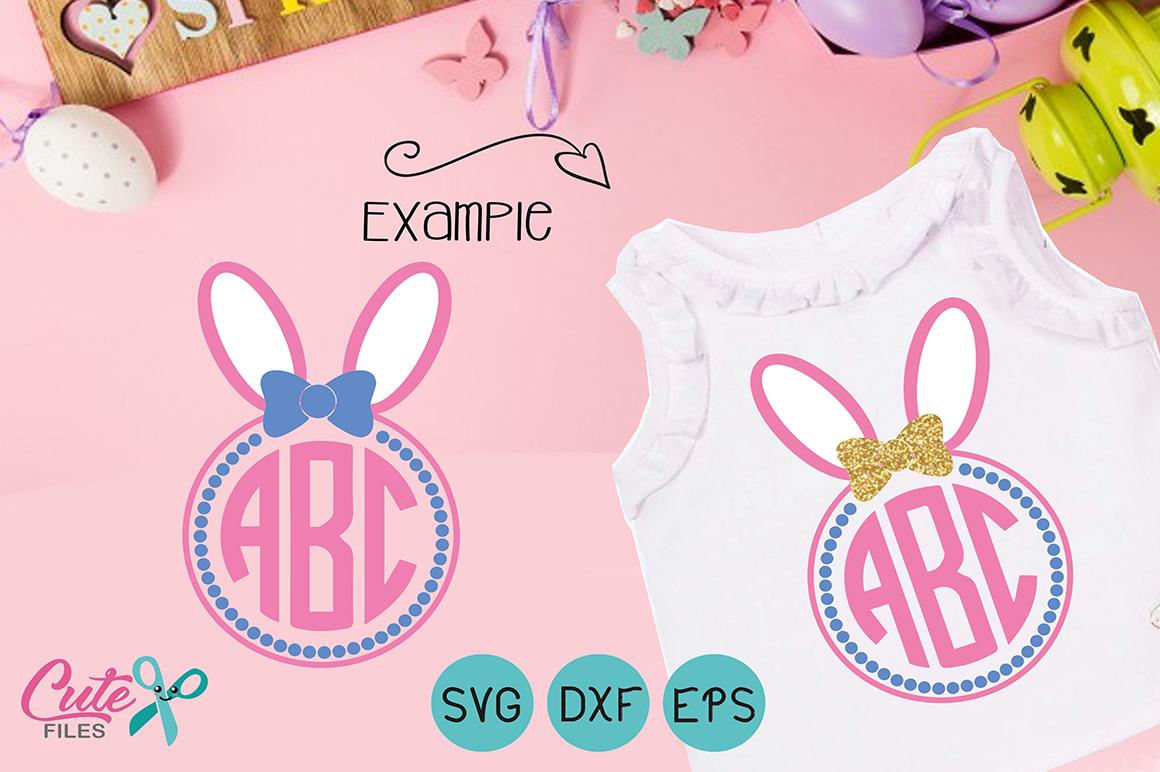 Easter monogram frames example image 4
