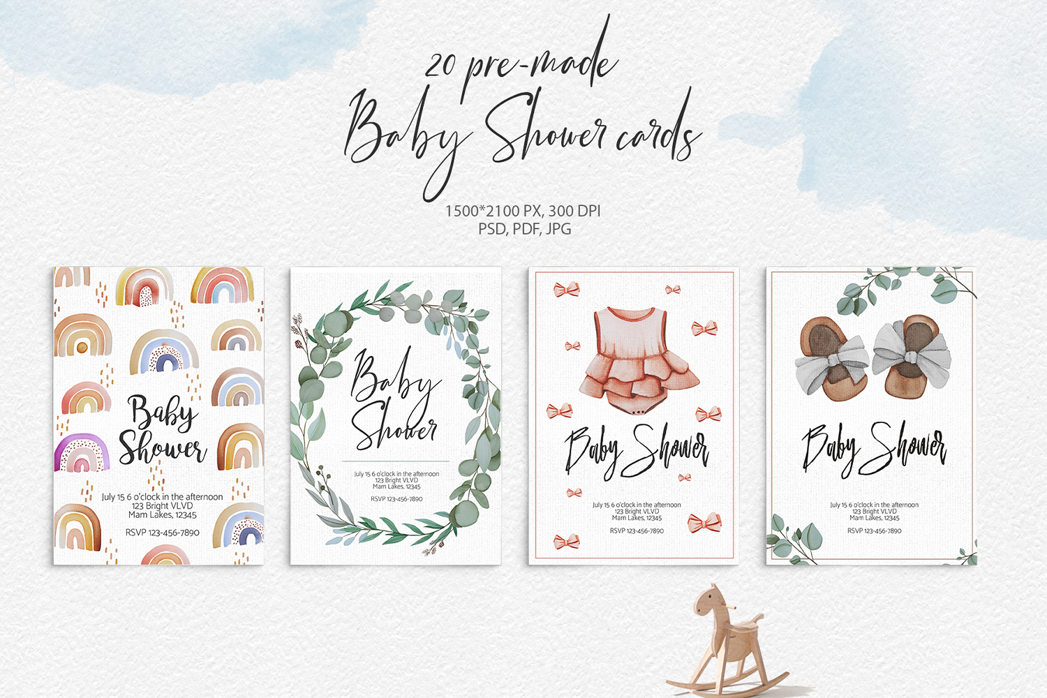 Baby Boom watercolor collection example image 6