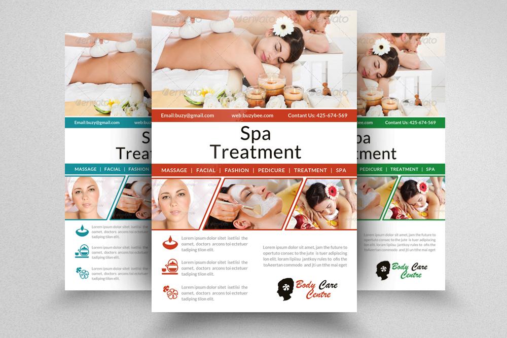 6 Beauty Spa & massage Centre Flyers Bundle example image 5