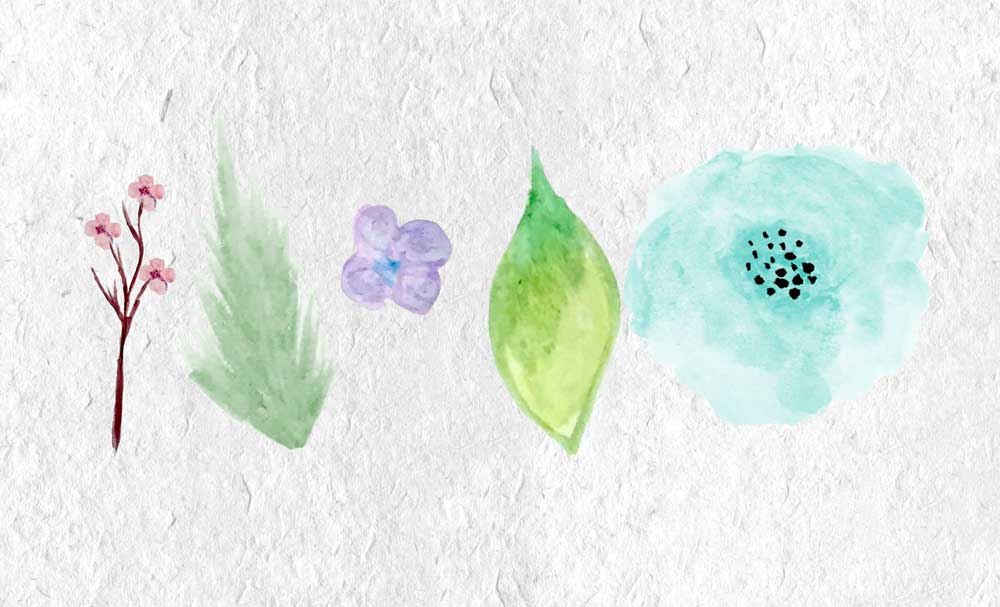 Watercolor Summer Flowers example image 2