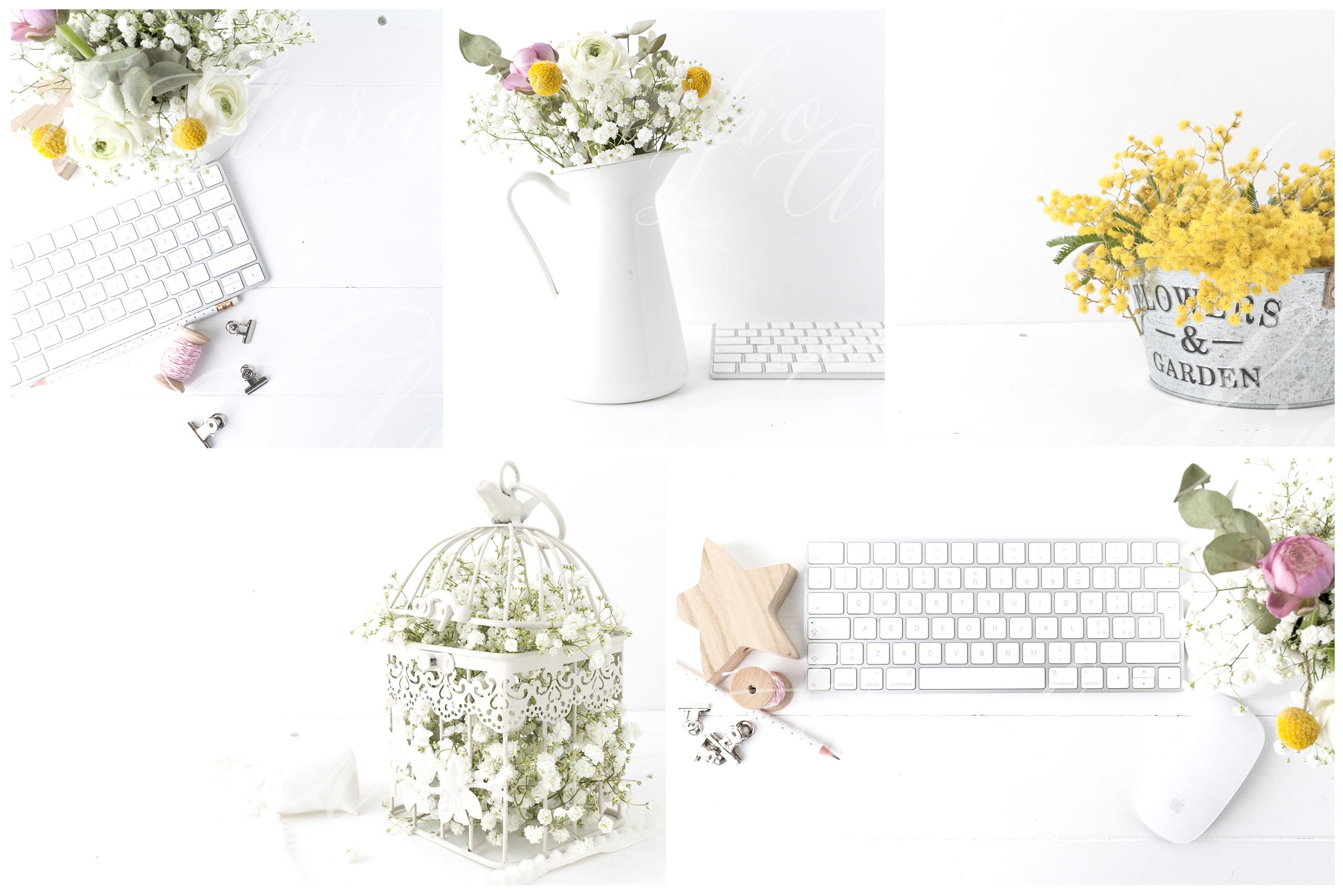 Spring Floral 8× Frame Mockup Bundle example image 4