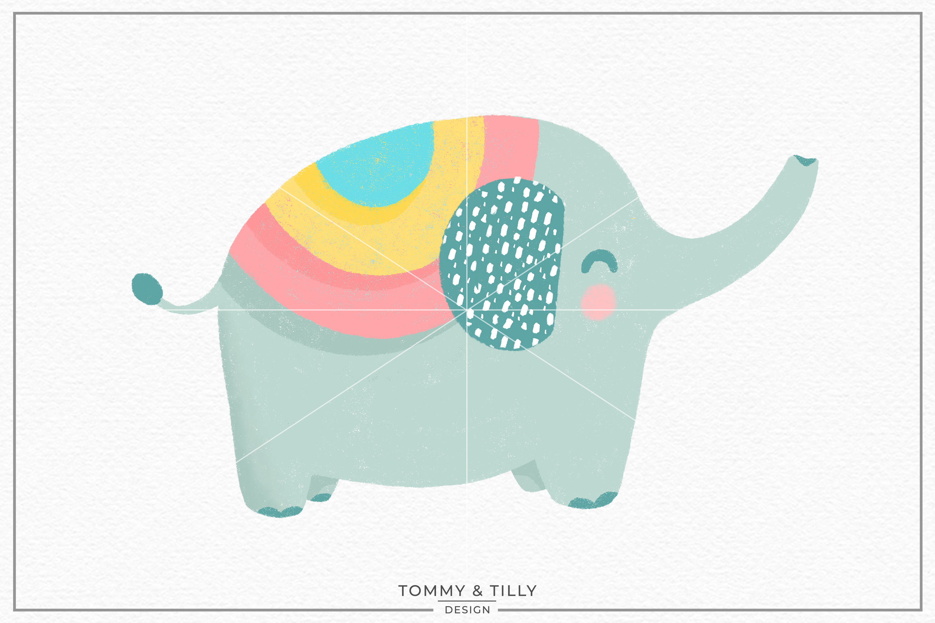 Nursery Elephant - Sublimation PNG Clipart example image 1