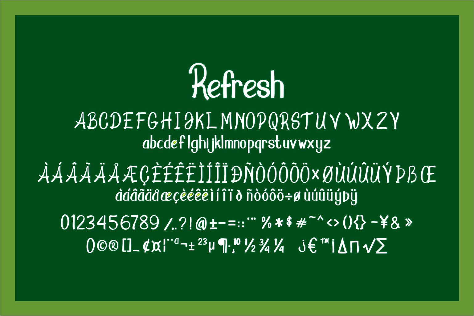 Refresh Display Font example image 5