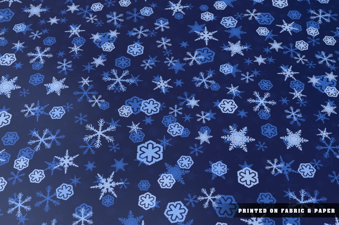 100 Snowflake Seamless Patterns example image 20