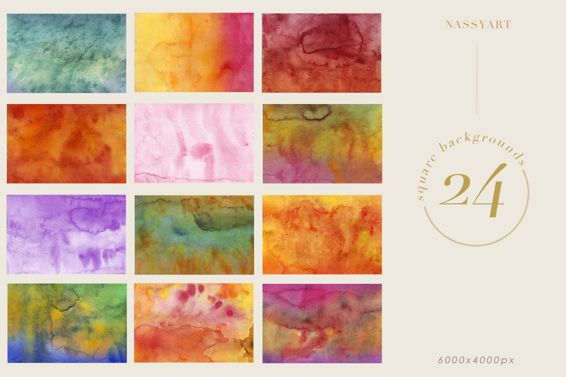 Luminoso Watercolor Textures example image 6