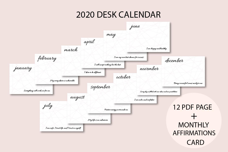 2020 Desk Calendar, Motivational, Quotes calendar, Planner example image 2