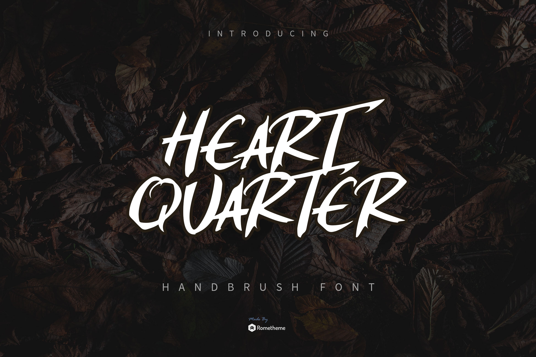 Heart Quarter - Brush Script Font example image 1