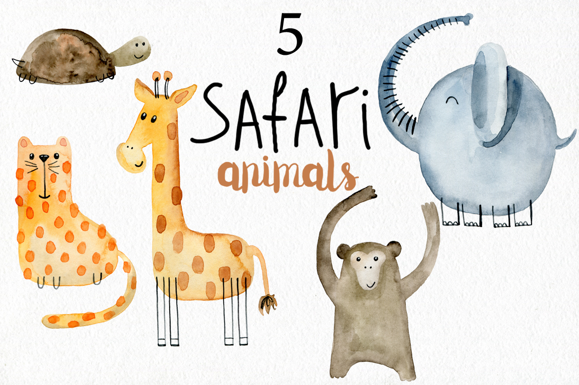 Safari animals. Kit. example image 2