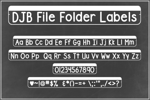 DJB File Folder Fonts example image 4