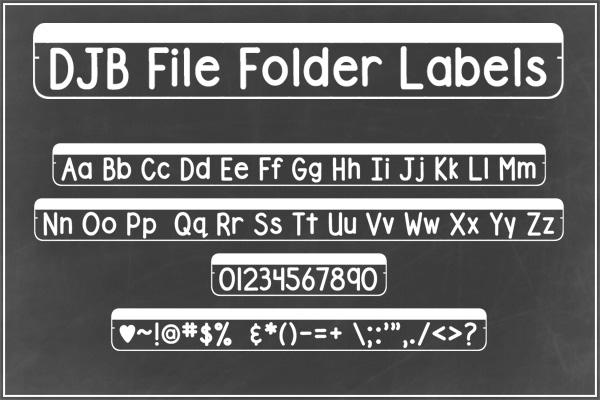 DJB File Folder Fonts example image 4