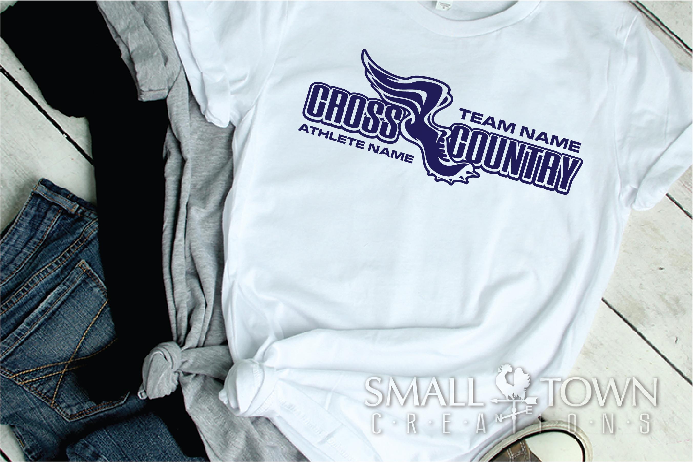Cross Country, Team, Sports, Logo, PRINT, CUT & DESIGN example image 3