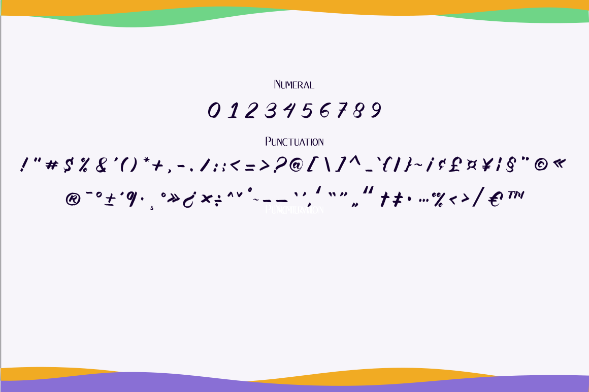Kalgellise Handwritten Brush Font example image 10