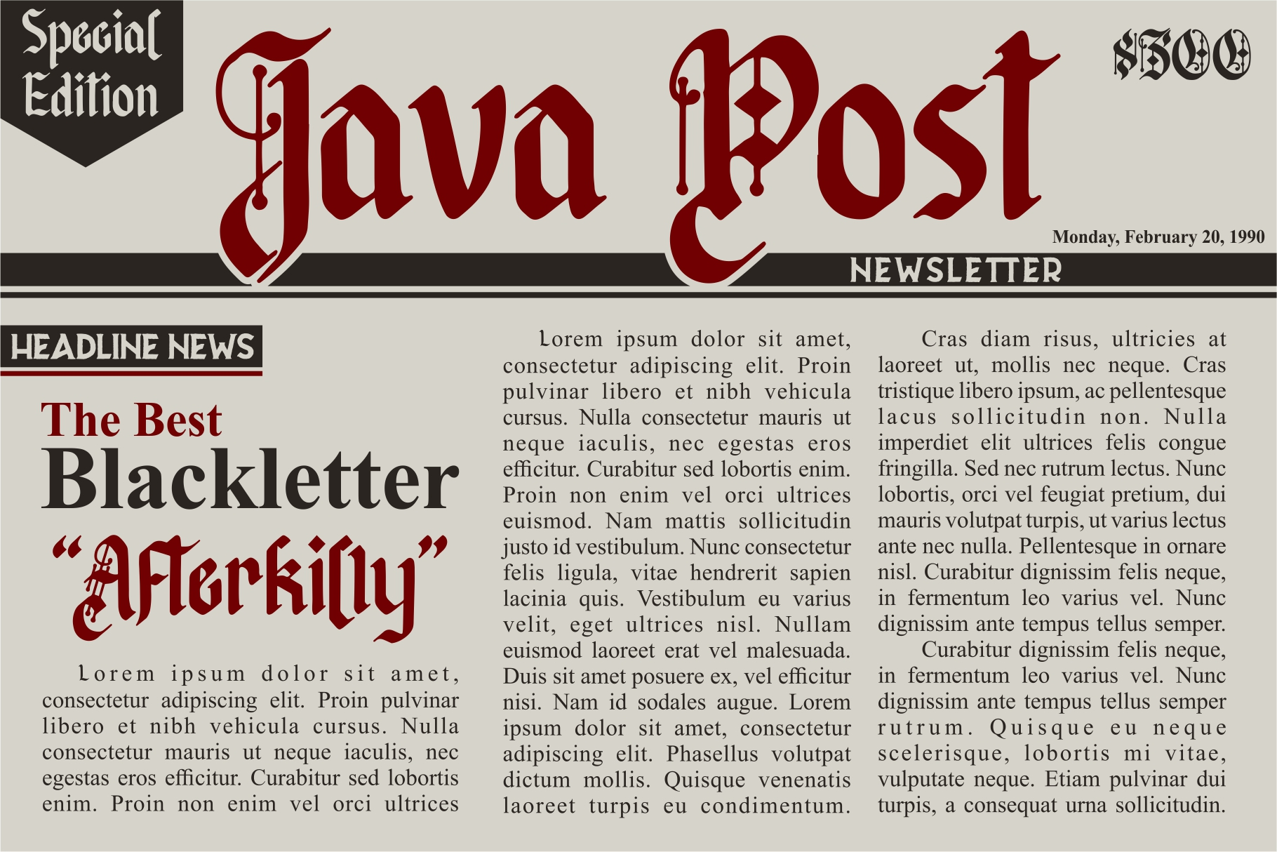 Afterkilly - New Blackletter example image 2