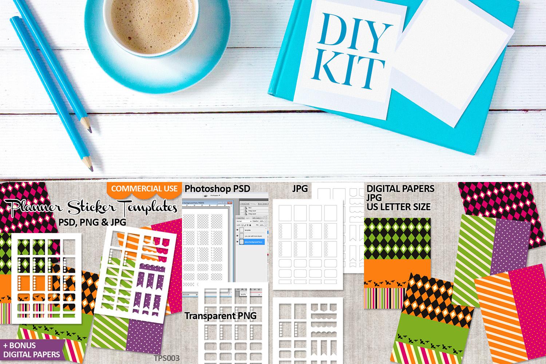 Templates Bundle Vol. 1 - Planner Stickers Digital DIY Kit example image 5