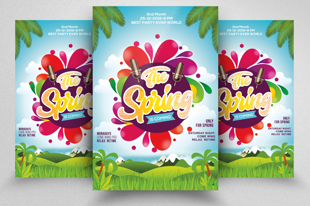 Spring Festival Flyer Template example image 1