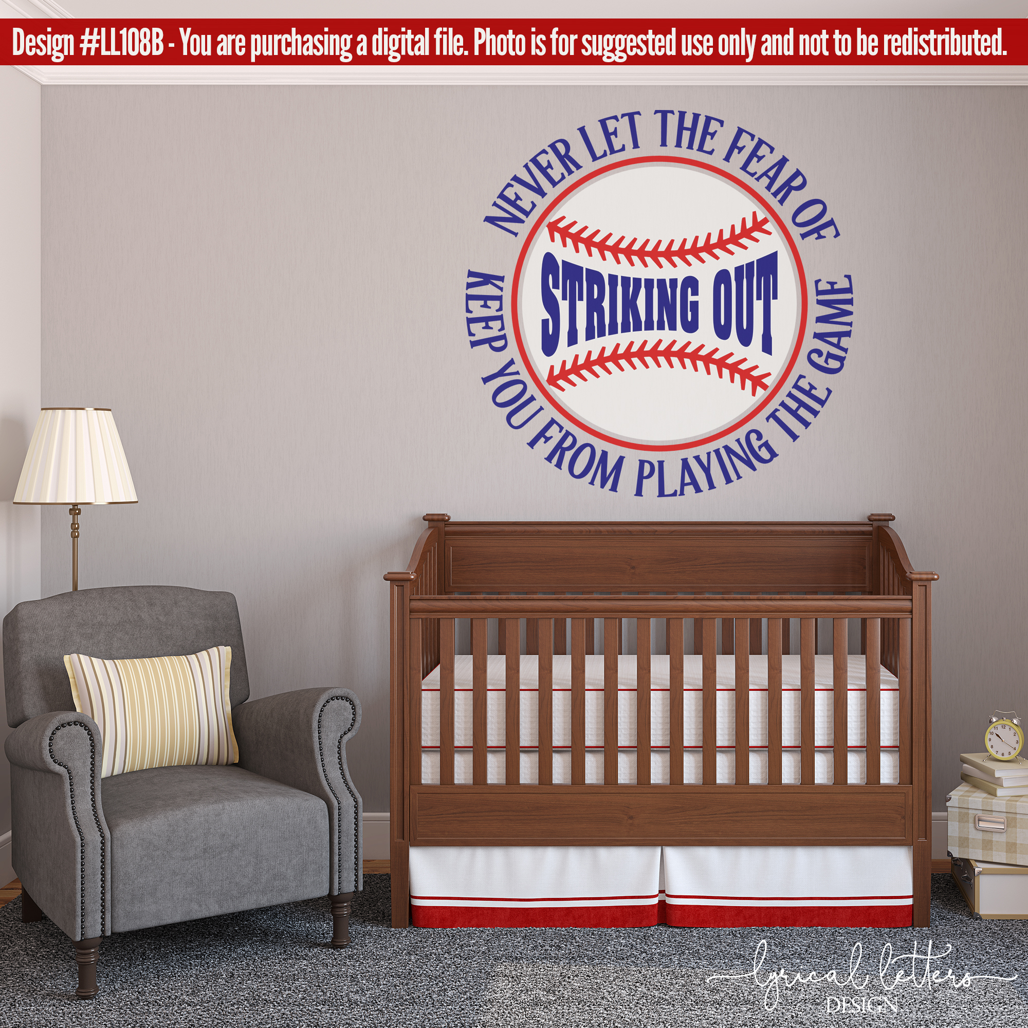 Babe Ruth Baseball Quote SVG DXF Cut File LL108B example image 2