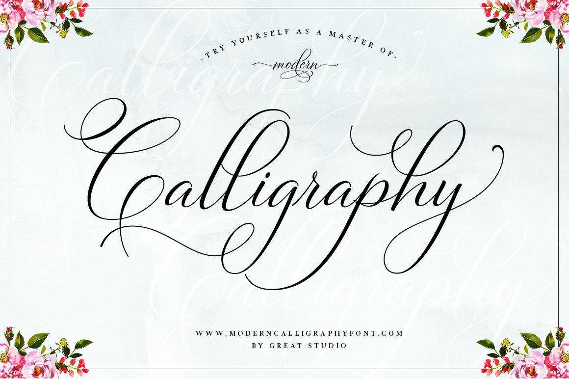 Bettrisia Script - Elegant Calligraphy Font example image 2