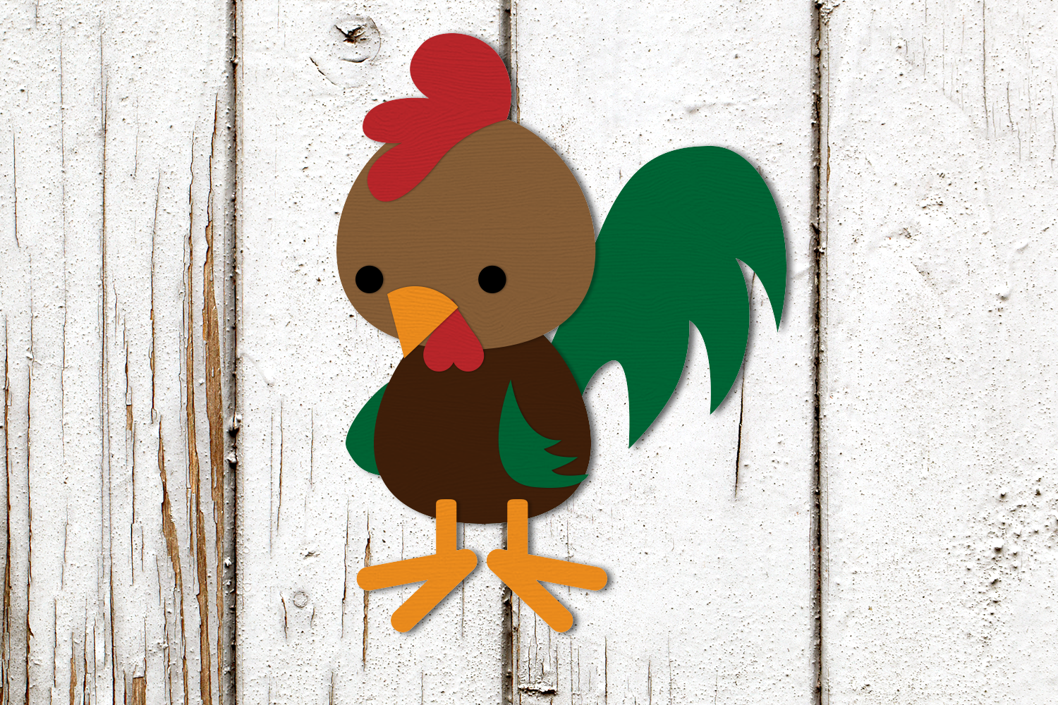 Rooster Chicken and Chick SVG Design example image 2