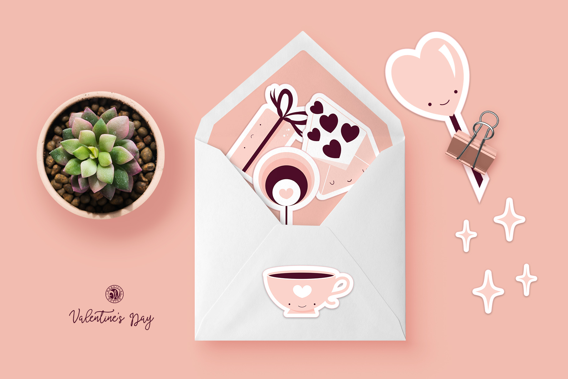 Cute Valentine's Day Stickers example image 3