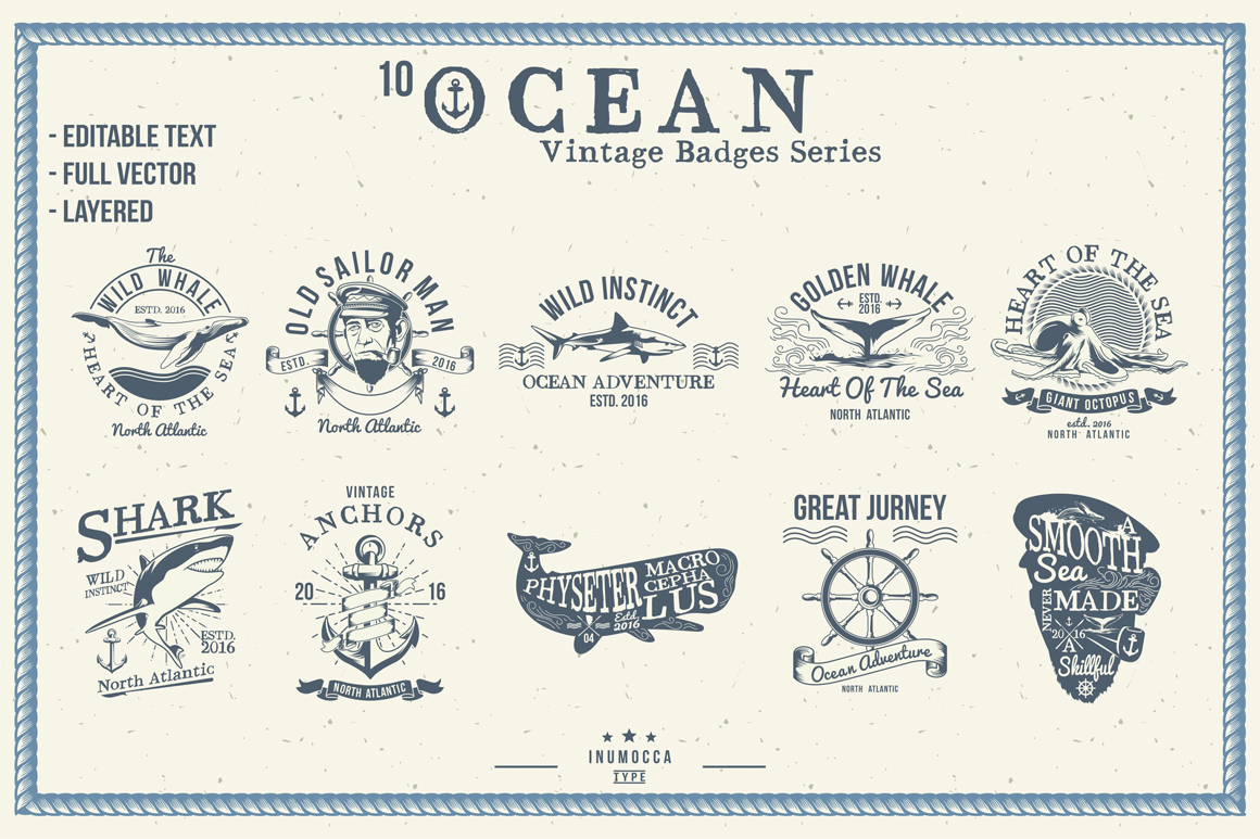BIG BUNDLE Vintage Badges example image 5