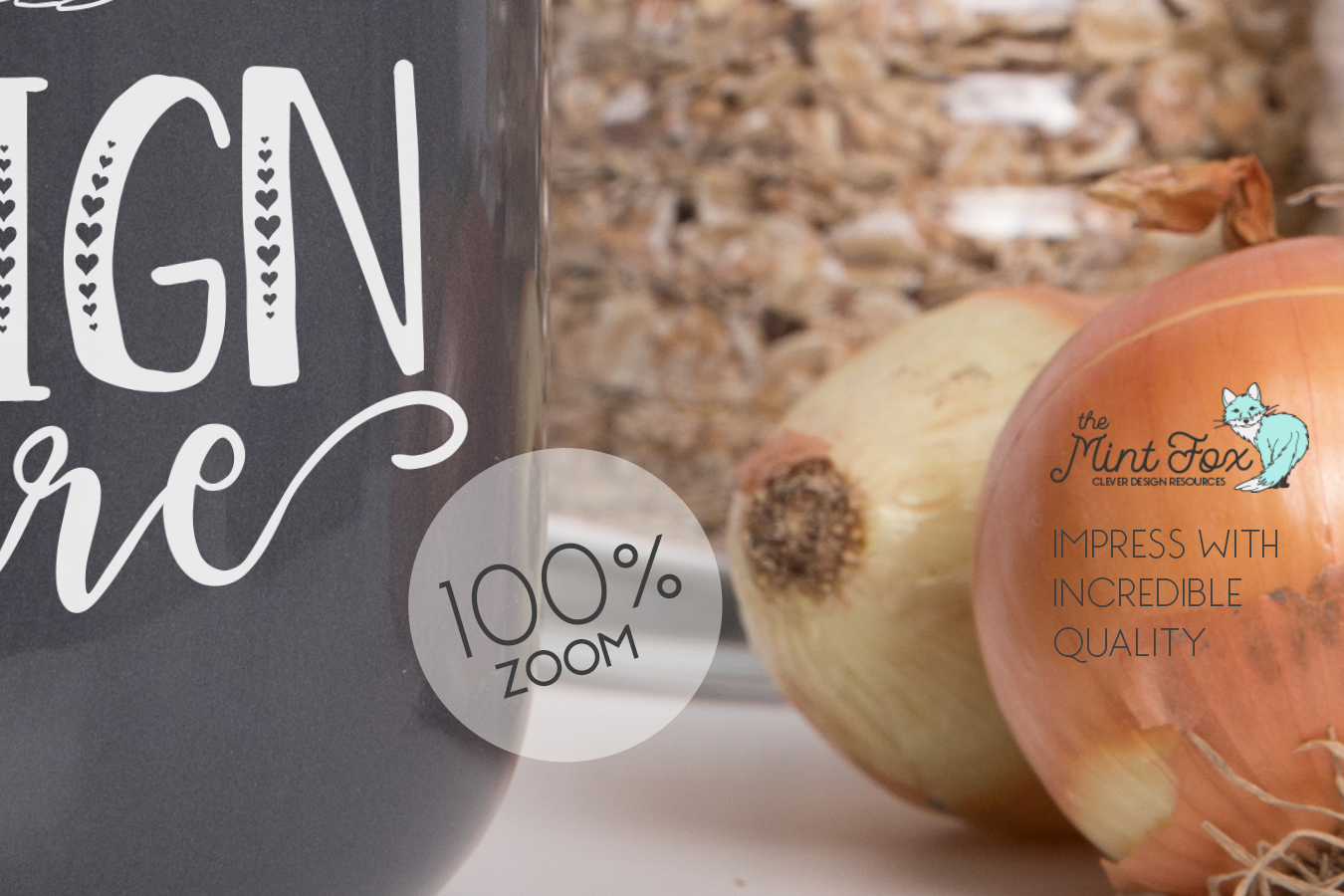 Kitchen Jar Mockup with Onions | PSD & JPG Mockup example image 2