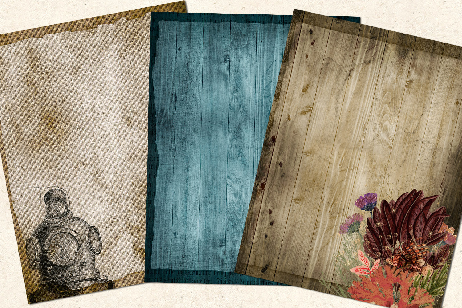 Sea Shanty Printable Journal Paper example image 2