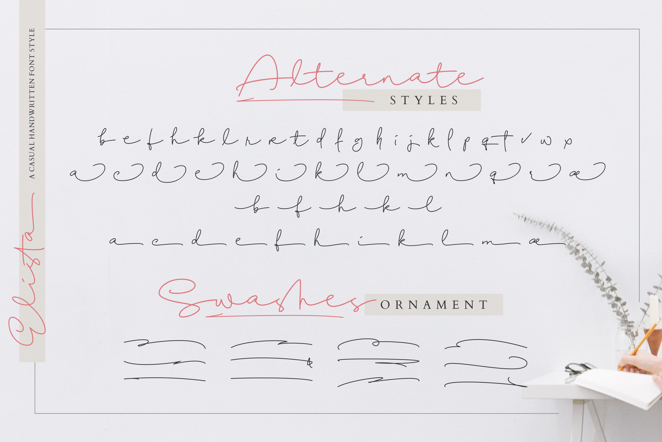 Elista - A Casual Handwritten Font example image 16