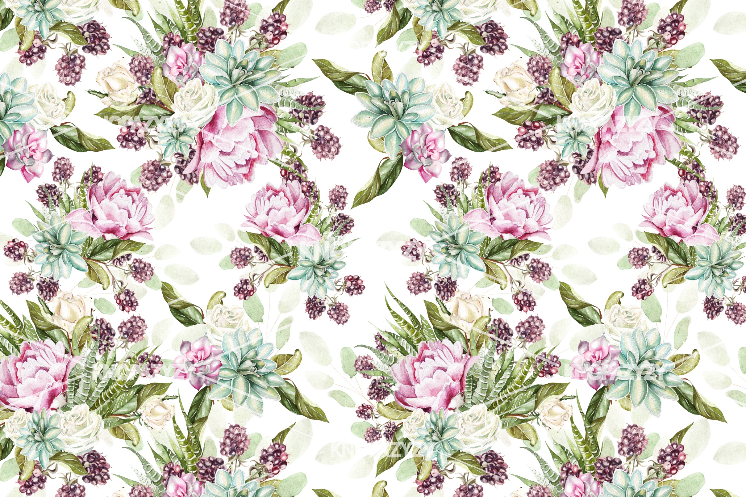 14 Hand drawn watercolor patterns example image 14