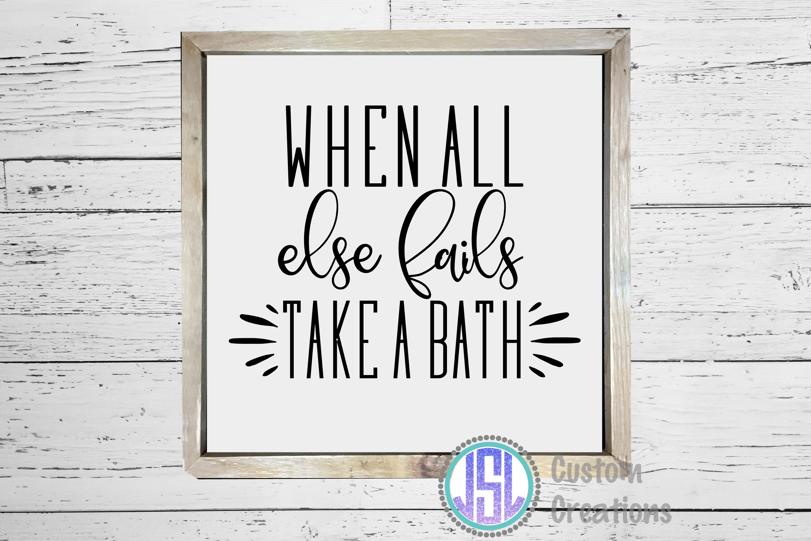 Bathroom Quotes Bundle | Set of 10 | SVG DXF EPS PNG example image 11