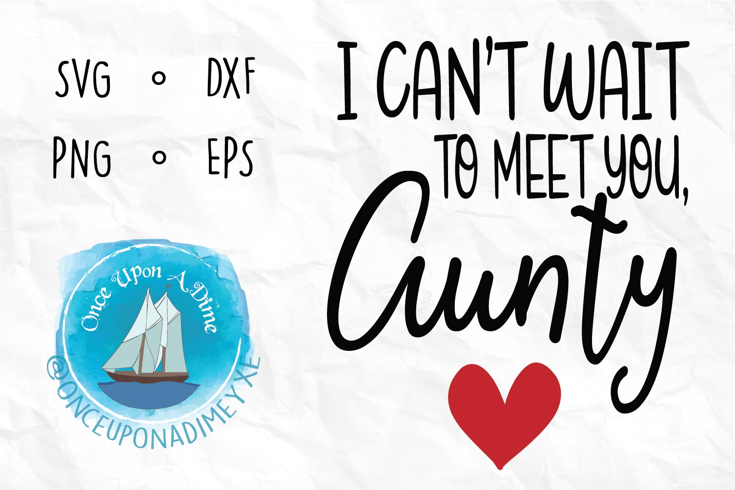 Meet You, Aunty | Baby| Baby Announcement SVG Cut File example image 2