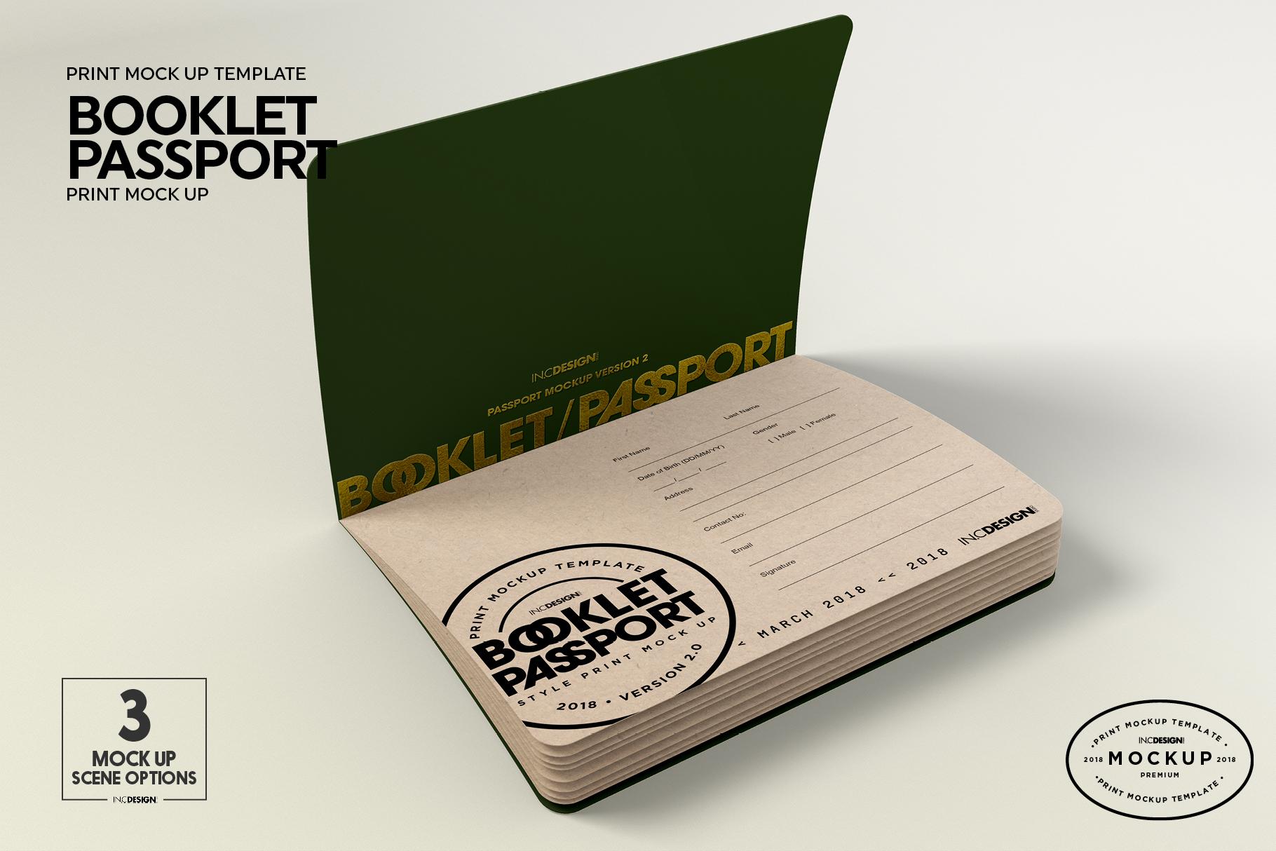 Booklet Passport Print MockUp example image 7