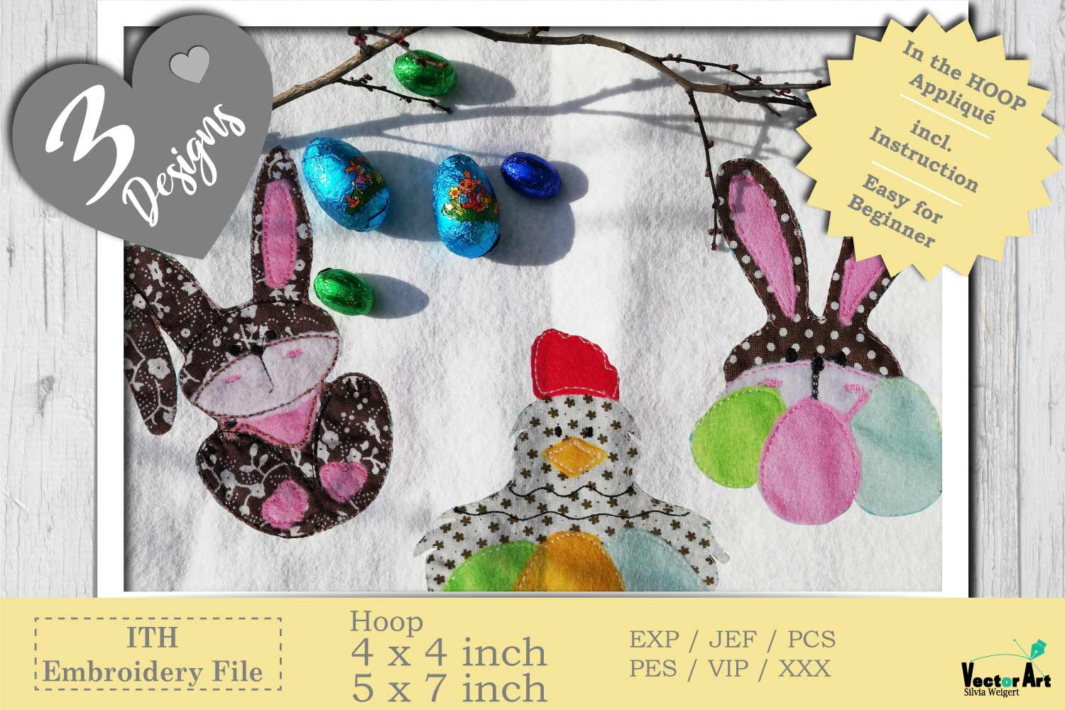 ITH Easter Bundle - Machine Embroidery Files - 10 Projects example image 2
